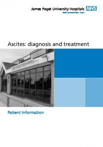 Ascites: diagnosis and treatment