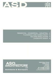 ASD ASD ARCHITECTURE. Ltd Architects & Surveyors