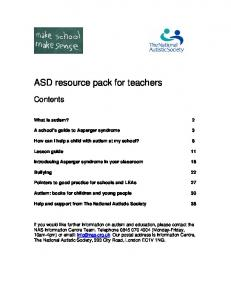 ASD resource pack for teachers