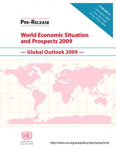 asdf World Economic Situation and Prospects 2009 Global Outlook 2009