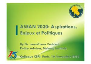 ASEAN 2030: Aspirations, Enjeux et Politiques