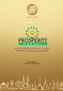 ASEAN BUSINESS ADVISORY COUNCIL REPORT TO THE ASEAN LEADERS