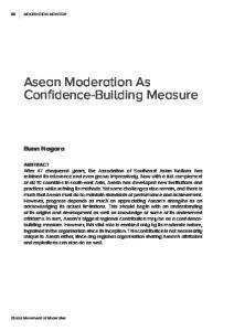 Asean Moderation As Confidence-Building Measure