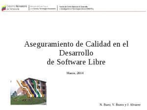 Aseguramiento de Calidad en el Desarrollo de Software Libre