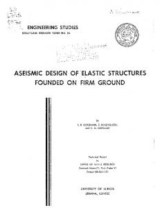 ASEISMIC DESIGN OF 'ELASTIC STRUCTURES