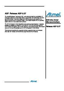 ASF: Release ASF-3.27