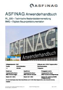 ASFINAG Anwenderhandbuch