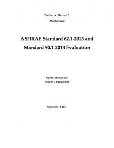 ASHRAE Standard and Standard Evaluation
