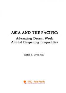 ASIA AND THE PACIFIC: