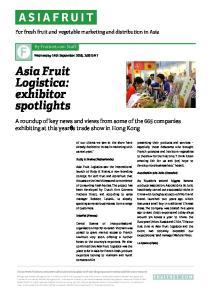 Asia Fruit Logistica: exhibitor spotlights