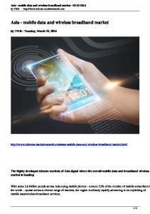 Asia - mobile data and wireless broadband market