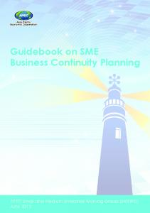 Asia-Pacific Economic Cooperation. Guidebook on SME Business Continuity Planning
