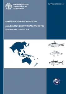 ASIA-PACIFIC FISHERY COMMISSION (APFIC)