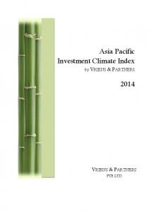 Asia Pacific Investment Climate Index