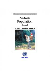 Asia-Pacific Population. Journal