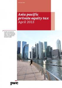 Asia pacific private equity tax April 2013
