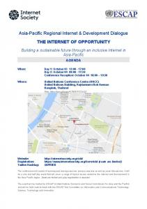Asia-Pacific Regional Internet & Development Dialogue THE INTERNET OF OPPORTUNITY