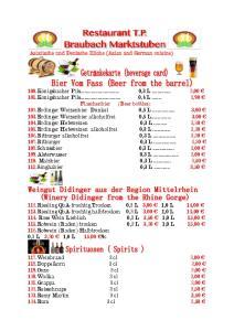 Asiatische und Deutsche Küche (Asian and German cuisine)