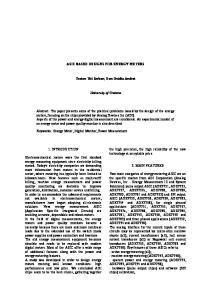 ASIC BASED DESIGNS FOR ENERGY METERS. Traian-Titi Serban, Dan-Ovidiu Andrei. University of Craiova