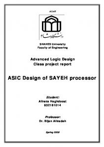 ASIC Design of SAYEH processor