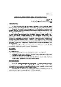 ASIGNATURA: DERECHO PROCESAL CIVIL Y COMERCIAL I