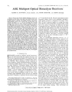 ASK Multiport Optical Homodyne Receivers