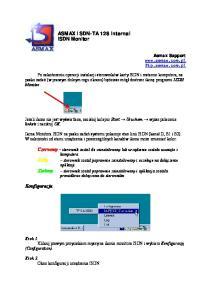 ASMAX ISDN-TA 128 internal ISDN Monitor