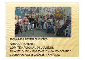 ASOCIACION CRISTIANA DE JOVENES