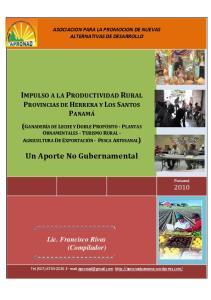 ASOCIACION PARA LA PROMOCION DE NUEVAS ALTERNATIVAS DE DESARROLLO