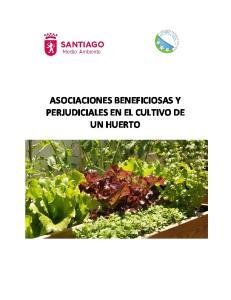 ASOCIACIONES BENEFICIOSAS Y PERJUDICIALES EN EL CULTIVO DE UN HUERTO