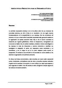 ASOCIATIVIDAD PRODUCTIVA PARA EL DESARROLLO LOCAL