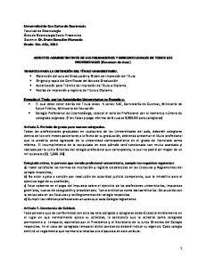 ASPECTOS ADMINISTRATIVOS DE LAS OBLIGACIONES Y DERECHOS LEGALES DE TODOS LOS PROFESIONALES (Resumen de clase)