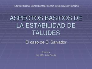 ASPECTOS BASICOS DE LA ESTABILIDAD DE TALUDES