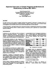 Aspectos Clave para un Exitoso Programa de Monitoreo de Vibraciones y la Norma ISO