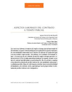 ASPECTOS LABORALES DEL CONTRATO A TIEMPO PARCIAL