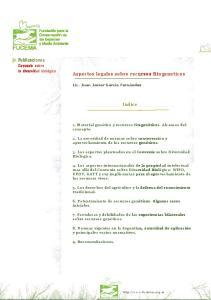 Aspectos legales sobre recursos fitogeneticos