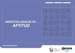 ASPECTOS LEGALES VS : APTITUD