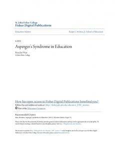 Asperger s Syndrome in Education