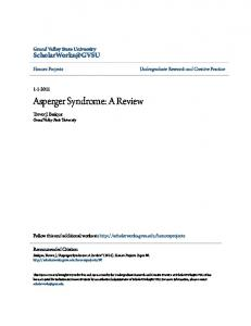 Asperger Syndrome: A Review