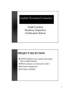 Asphalt Pavement Evaluation