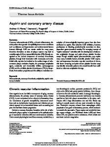 Aspirin and coronary artery disease