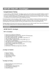 ASP.NET Web-API - Grundlagen