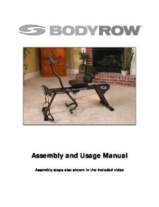 Assembly and Usage Manual
