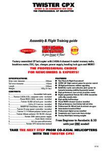 Assembly & Flight Training guide