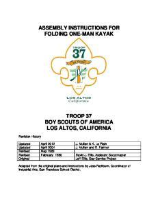 ASSEMBLY INSTRUCTIONS FOR FOLDING ONE-MAN KAYAK