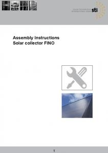 Assembly Instructions Solar collector FINO