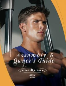 Assembly & Owner s Guide