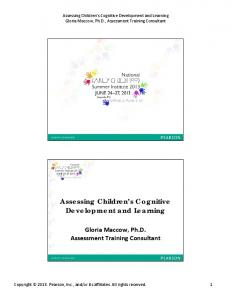 Assessing Children s Cognitive Development and Learning