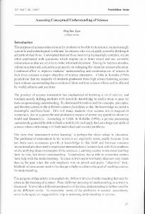 Assessing Conceptual Understanding