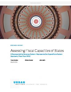 Assessing Fiscal Capacities of States